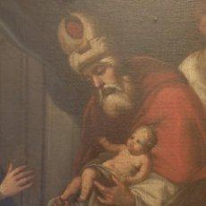 Arte: LA PRESENTACIÓN DEL NIÑO JESÚS EN EL TEMPLO. ÓLEO SOBRE LIENZO. SIGLO XVII. MEDIDAS DE 112 X 68 CM.. Lote 145293382