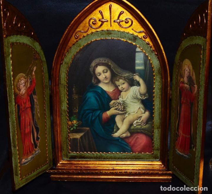 TRÍPTICO RELIGIOSO , VINTAGE (Arte - Arte Religioso - Trípticos)