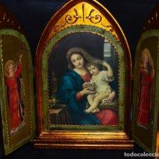 Arte: TRÍPTICO RELIGIOSO , VINTAGE. Lote 145352262