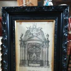 Arte: VIRGEN DE DEL PILAR GRABADO SOBRE TELA XVII. Lote 145515033