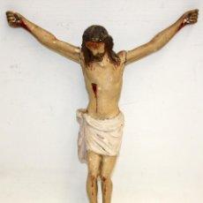 Arte: CRISTO ISABELINO DE MADERA POLICROMADA-CARA BONITA.. Lote 151450938