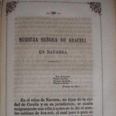 Art: NUESTRA SEÑORA DE ARACELI NAVARRA CORELLA .AÑO 1864. Lote 145577402