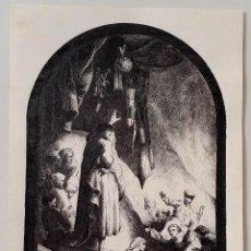Arte: DIBUJO SOBRE UN GRABADO DE REMBRANDT, FIRMADO. Lote 145841882