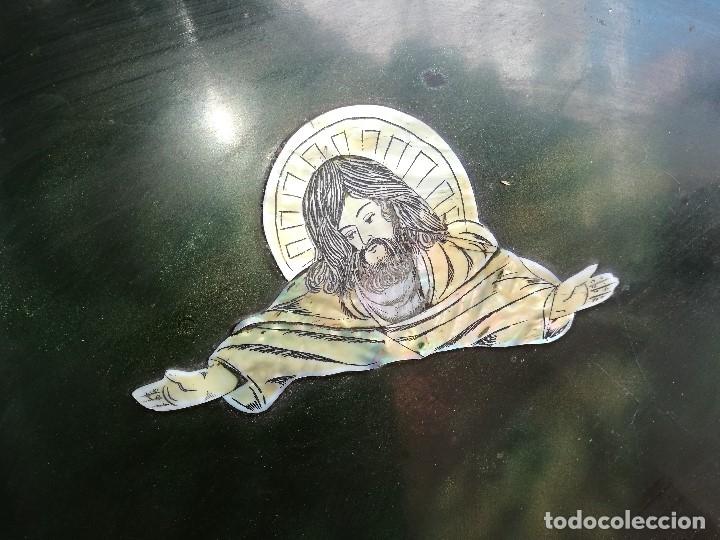 Arte: ICONO RETABLO ENCONCHADO COLONIAL S. XVIII SANTIAGO APOSTOL-LACADO Y MADREPERLA-NÁCAR-ref-ml - Foto 6 - 145881722
