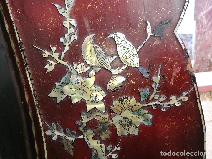 Arte: ICONO RETABLO ENCONCHADO COLONIAL S. XVIII SANTIAGO APOSTOL-LACADO Y MADREPERLA-NÁCAR-ref-ml - Foto 9 - 145881722