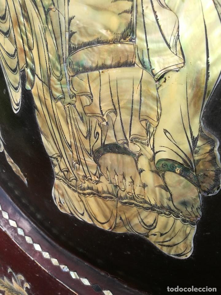 Arte: ICONO RETABLO ENCONCHADO COLONIAL S. XVIII SANTIAGO APOSTOL-LACADO Y MADREPERLA-NÁCAR-ref-ml - Foto 11 - 145881722