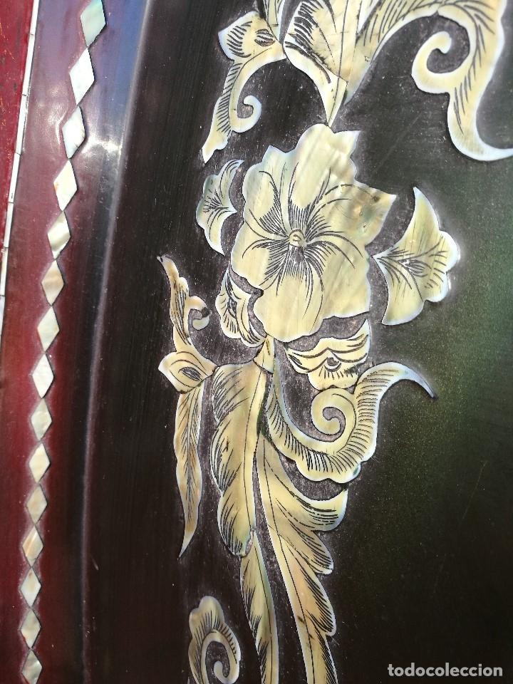 Arte: ICONO RETABLO ENCONCHADO COLONIAL S. XVIII SANTIAGO APOSTOL-LACADO Y MADREPERLA-NÁCAR-ref-ml - Foto 13 - 145881722