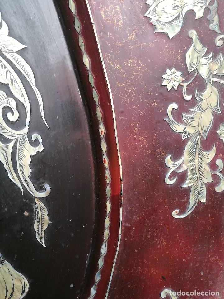 Arte: ICONO RETABLO ENCONCHADO COLONIAL S. XVIII SANTIAGO APOSTOL-LACADO Y MADREPERLA-NÁCAR-ref-ml - Foto 21 - 145881722