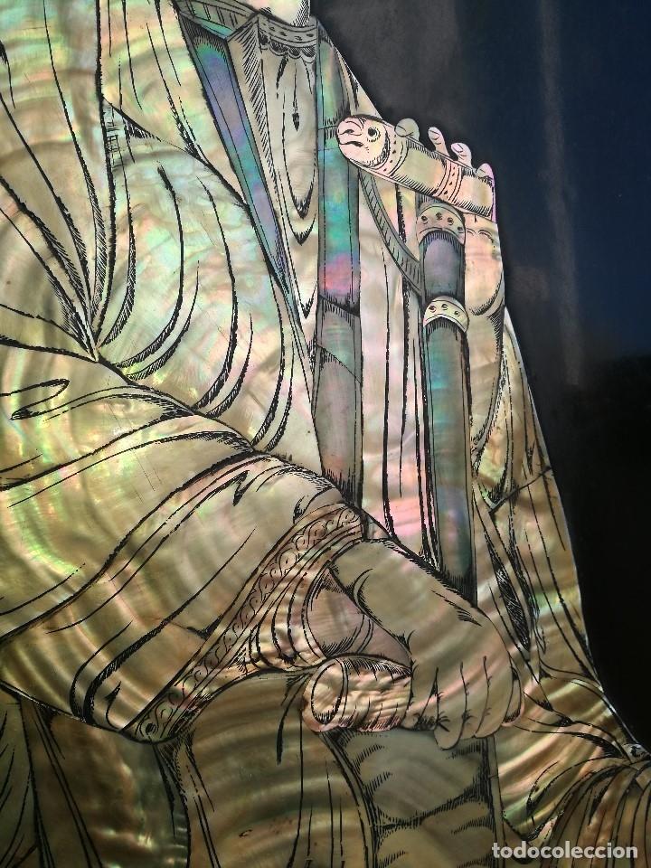 Arte: ICONO RETABLO ENCONCHADO COLONIAL S. XVIII SANTIAGO APOSTOL-LACADO Y MADREPERLA-NÁCAR-ref-ml - Foto 22 - 145881722
