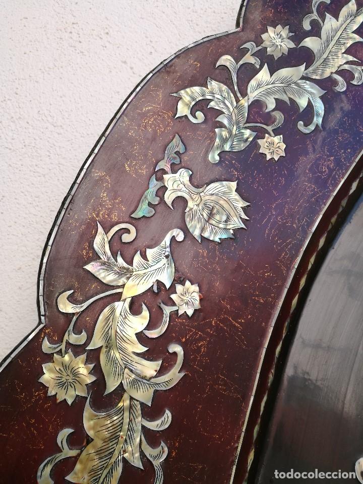 Arte: ICONO RETABLO ENCONCHADO COLONIAL S. XVIII SANTIAGO APOSTOL-LACADO Y MADREPERLA-NÁCAR-ref-ml - Foto 25 - 145881722