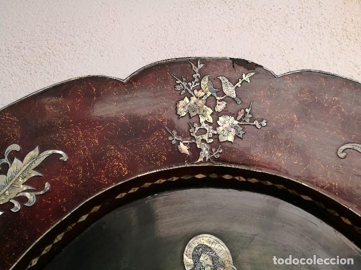 Arte: ICONO RETABLO ENCONCHADO COLONIAL S. XVIII SANTIAGO APOSTOL-LACADO Y MADREPERLA-NÁCAR-ref-ml - Foto 27 - 145881722