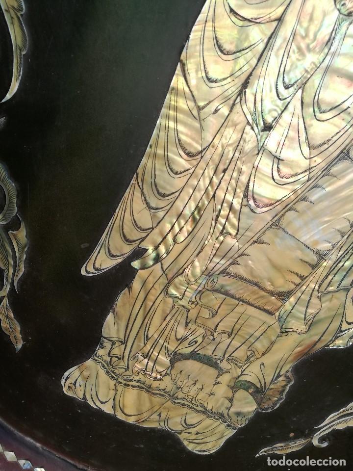 Arte: ICONO RETABLO ENCONCHADO COLONIAL S. XVIII SANTIAGO APOSTOL-LACADO Y MADREPERLA-NÁCAR-ref-ml - Foto 31 - 145881722