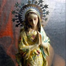 Arte: PRECIOSA VIRGEN , PRINCIPIOS SIGLO XX, POLICROMADA,TALLA MADERA, ESTILO BARROCO, VER FOTOS. Lote 146202526