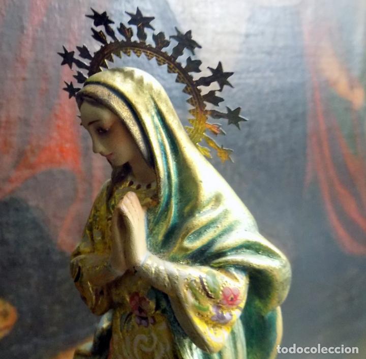 Arte: preciosa virgen , principios siglo xx, policromada,talla madera, estilo barroco, ver fotos - Foto 2 - 146202526