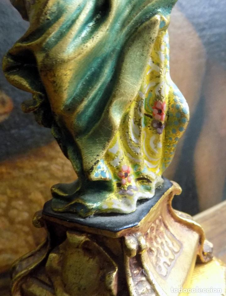 Arte: preciosa virgen , principios siglo xx, policromada,talla madera, estilo barroco, ver fotos - Foto 3 - 146202526