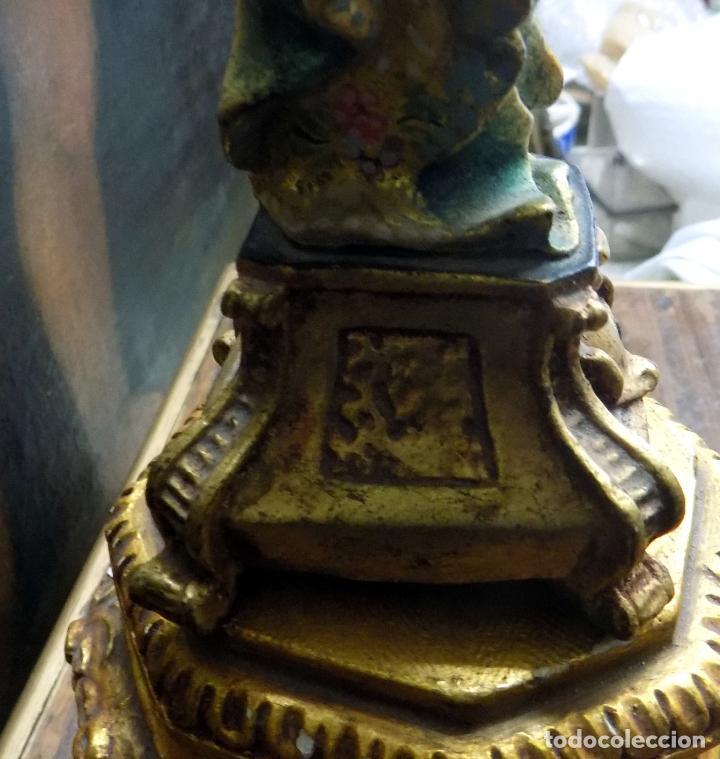 Arte: preciosa virgen , principios siglo xx, policromada,talla madera, estilo barroco, ver fotos - Foto 7 - 146202526
