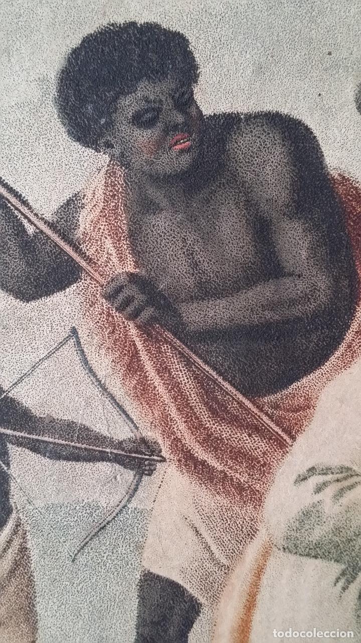 Arte: San Pedro, martirio, aguafuerte coloreado a mano, siglo XVIII - Foto 3 - 146213286