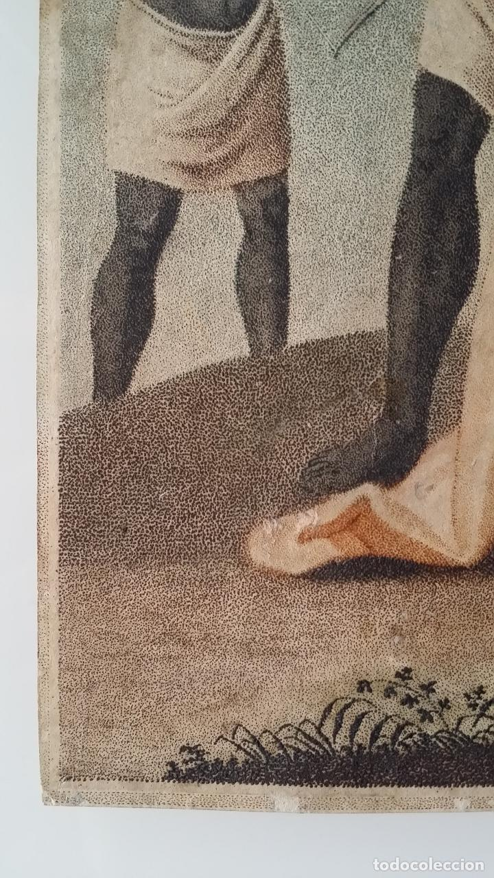 Arte: San Pedro, martirio, aguafuerte coloreado a mano, siglo XVIII - Foto 5 - 146213286