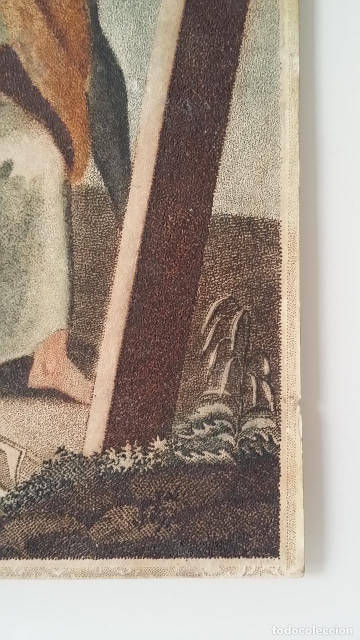 Arte: San Pedro, martirio, aguafuerte coloreado a mano, siglo XVIII - Foto 6 - 146213286