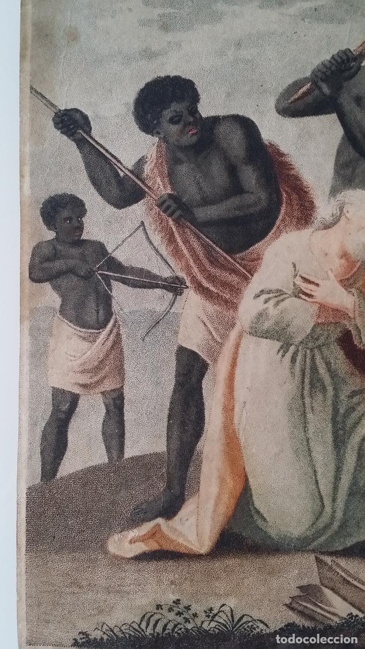 Arte: San Pedro, martirio, aguafuerte coloreado a mano, siglo XVIII - Foto 9 - 146213286