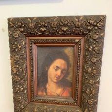 Art - Cuadro de virgen o madonna pintado sobre tablex - 146223997