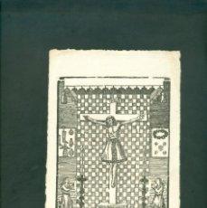 Arte: CRISTO GRABADO A LA MADERA ORIGINAL PRINCIPIOS SXIX . Lote 146260546