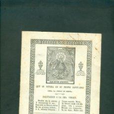 Arte: NUESTRA SEÑORA DE LOS ANGELES GRABADO A LA MADERA ORIGINAL PRINCIPIOS SXIX . Lote 146262774
