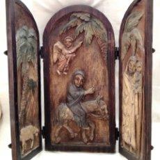 Art: ANTIGUO TRIPTICO RELIGIOSO.. Lote 146263153