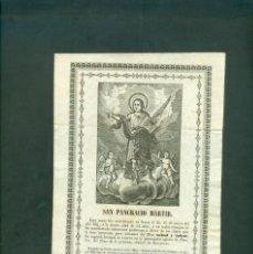 Arte: SAN PANCRACIO MARTIR GRABADO A LA MADERA ORIGINAL PRINCIPIOS SXIX . Lote 146263242