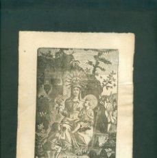 Arte: LA VIRGEN MARIA GRABADO A LA MADERA ORIGINAL PRINCIPIOS SXIX . Lote 146263834