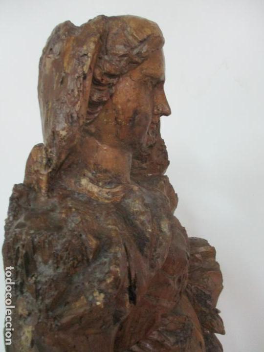 Arte: Preciosa Escultura Barroca - Santa Ana - Virgen, Talla de Madera - Peana de Mármol - S. XVII - Foto 32 - 146266230