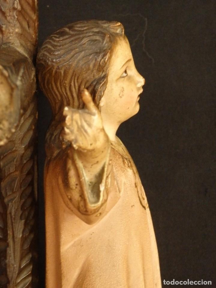 Arte: Niño Jesús en la cruz. Escultura de madera tallada y policromada. 35 cm. Hacia 1900. - Foto 11 - 146307534