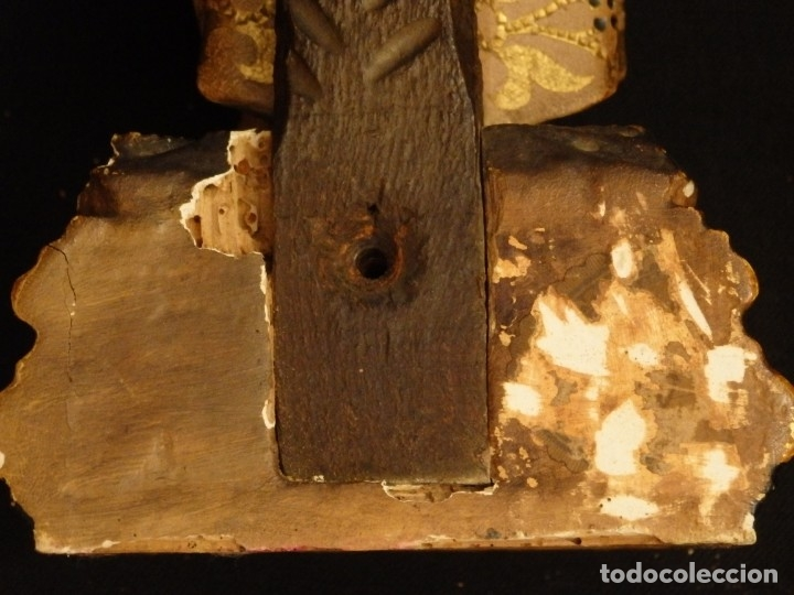 Arte: Niño Jesús en la cruz. Escultura de madera tallada y policromada. 35 cm. Hacia 1900. - Foto 15 - 146307534