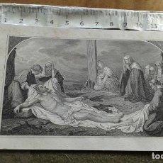 Arte: PEQUEÑO GRABADO J. NICOLAU S.C - SIGLO XIX - JESUS EN EL SEPULCRO. Lote 146343538