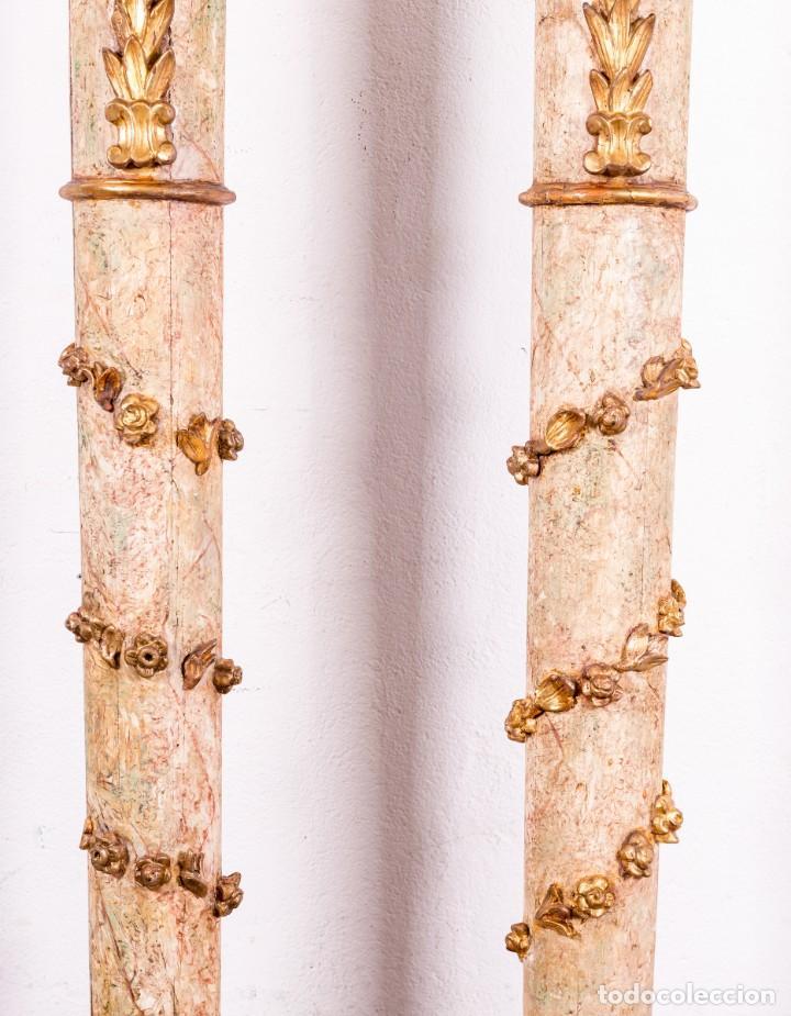 Arte: Columna Antigua De Retablo Policromada - Foto 6 - 146520866
