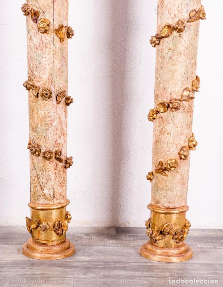 Arte: Columna Antigua De Retablo Policromada - Foto 7 - 146520866
