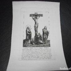 Art: SIGLO XIX GRABADO SANTISIMO CRISTO DE LA BUENA MUERTE LA DOLOROSA VIRGEN - RELIGION. Lote 146619794