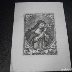 Arte: SIGLO XVIII GRABADO DE CATHARINA CATALINA - RELIGION. Lote 146625354