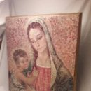 Arte: PRECIOSO ANTIGUO CUADRO VIRGEN CON EL NIÑO DE JANDRO 51X42CM. Lote 146630158