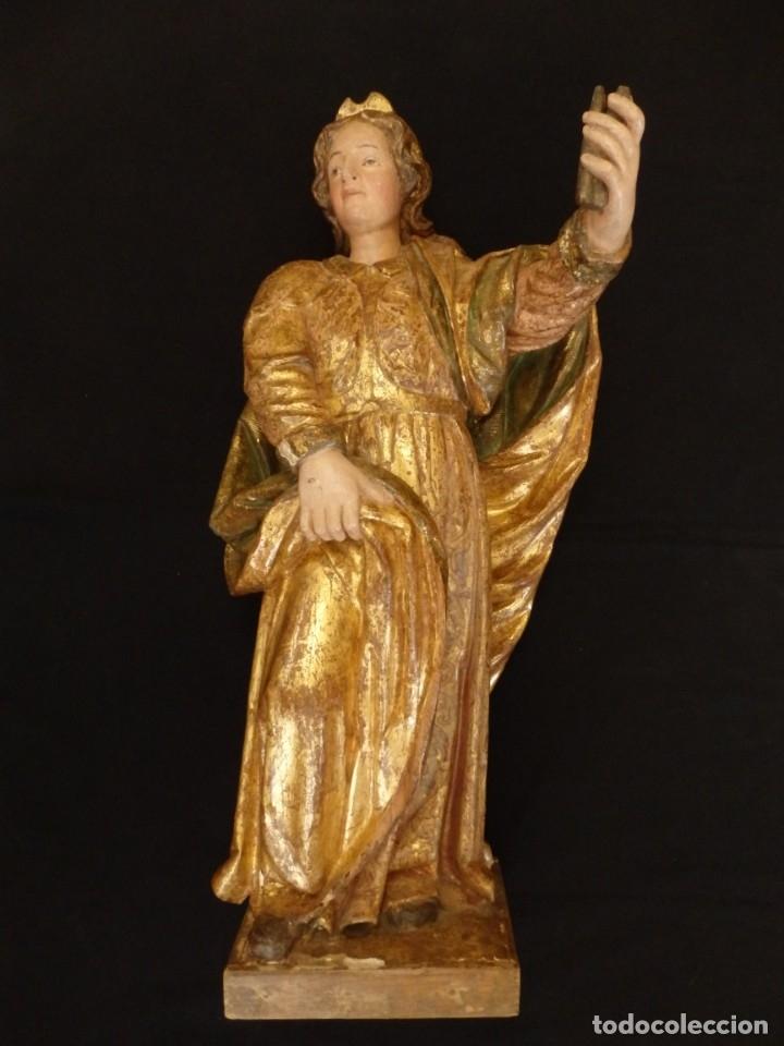 Arte: Alegoría de la Libertad. escultura tallada en madera de la Escuela Romanista del siglo XVI. 76 cm. - Foto 3 - 146693934