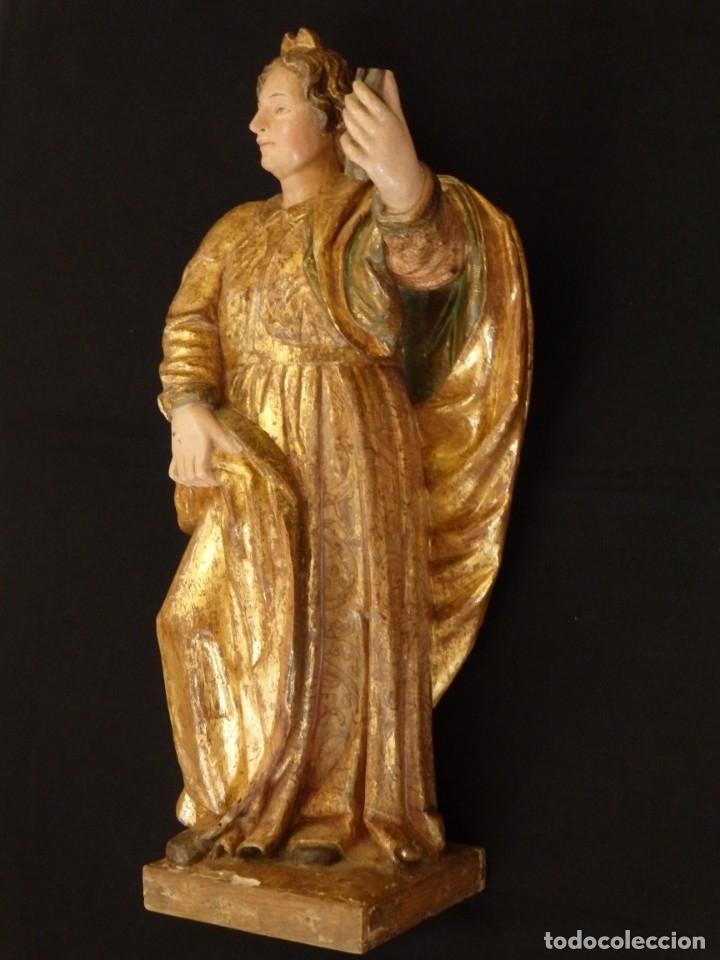 Arte: Alegoría de la Libertad. escultura tallada en madera de la Escuela Romanista del siglo XVI. 76 cm. - Foto 4 - 146693934