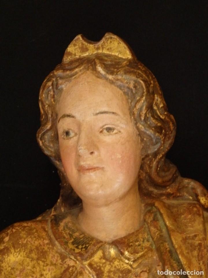 Arte: Alegoría de la Libertad. escultura tallada en madera de la Escuela Romanista del siglo XVI. 76 cm. - Foto 5 - 146693934