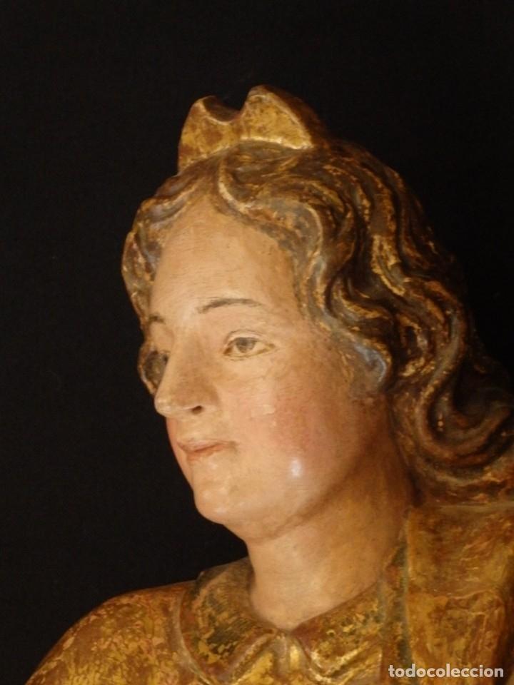 Arte: Alegoría de la Libertad. escultura tallada en madera de la Escuela Romanista del siglo XVI. 76 cm. - Foto 6 - 146693934