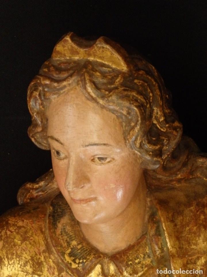 Arte: Alegoría de la Libertad. escultura tallada en madera de la Escuela Romanista del siglo XVI. 76 cm. - Foto 7 - 146693934