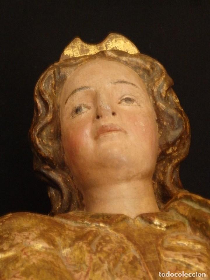 Arte: Alegoría de la Libertad. escultura tallada en madera de la Escuela Romanista del siglo XVI. 76 cm. - Foto 8 - 146693934