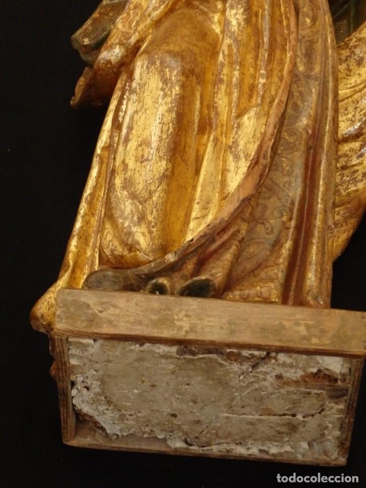 Arte: Alegoría de la Libertad. escultura tallada en madera de la Escuela Romanista del siglo XVI. 76 cm. - Foto 10 - 146693934