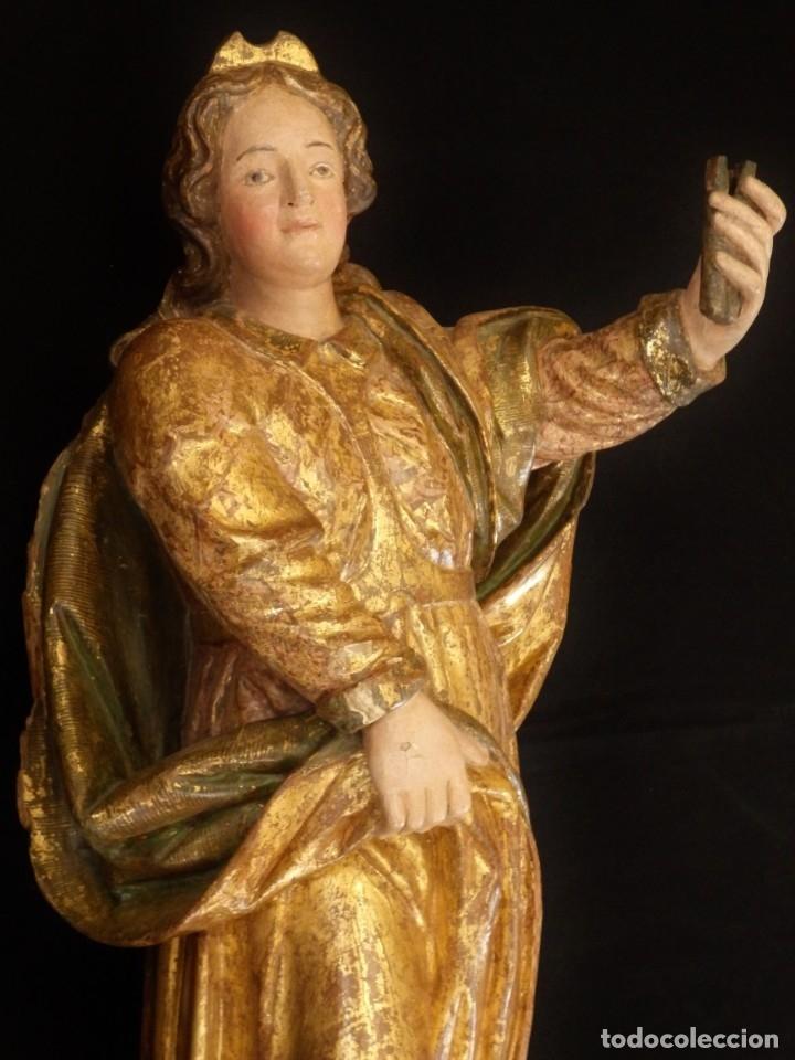 ALEGORÍA DE LA LIBERTAD. ESCULTURA TALLADA EN MADERA DE LA ESCUELA ROMANISTA DEL SIGLO XVI. 76 CM. (Arte - Arte Religioso - Escultura)