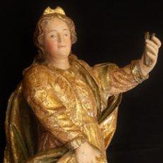 Arte: ALEGORÍA DE LA LIBERTAD. ESCULTURA TALLADA EN MADERA DE LA ESCUELA ROMANISTA DEL SIGLO XVI. 76 CM.. Lote 146693934