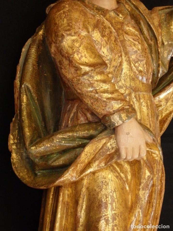 Arte: Alegoría de la Libertad. escultura tallada en madera de la Escuela Romanista del siglo XVI. 76 cm. - Foto 11 - 146693934