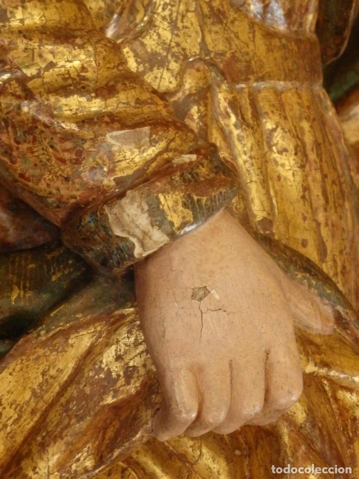 Arte: Alegoría de la Libertad. escultura tallada en madera de la Escuela Romanista del siglo XVI. 76 cm. - Foto 12 - 146693934